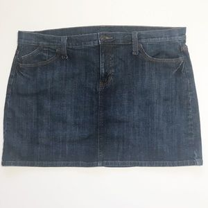 Gap Dark Denim Mini Skirt Size 18 Jean Skirt